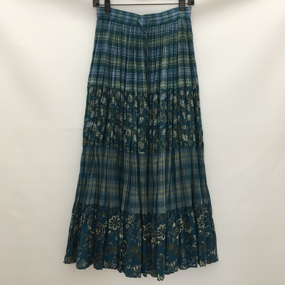 Dresses & Skirts - Bobbie Brooks Skirt Size 4 6 Small Green Blue